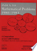 Index to Mathematical Problems  1980 1984