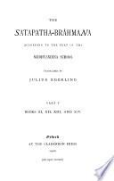 Sacred Books of the East  The Satapatha Brahmana  pt  5