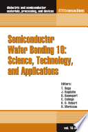 Semiconductor Wafer Bonding 10  Science  Technology  and Applications