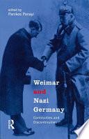 Weimar and Nazi Germany