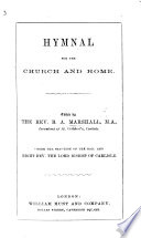 Hymnal for the Church and Home  Edited by B  A  M   etc   Second edition