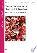 Transformations in Sacrificial Practices