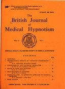 British Journal Of Medical Hypnotism