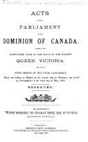 Book Statuts du Canada