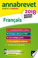 Annales Annabrevet 2018 Fran  ais 3e