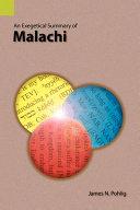 An Exegetical Summary of Malachi