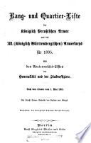 Rangliste der Koeniglich Preussischen Armee und des XIII.