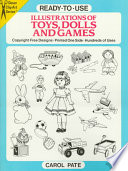Ready to Use Illustrations of Toys  Dolls and Games
