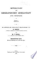 Mitteilungen der Geographischen Gesellschaft (für Thüringen) zu Jena