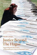 Justice Beyond the Hague
