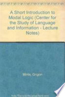 Short Introduction to Modal Logic