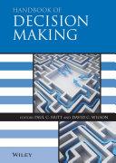 download ebook handbook of decision making pdf epub