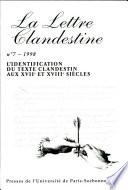L'identification du texte clandestin aux XVIIe et XVIIIe siècles