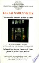Les facs sous Vichy