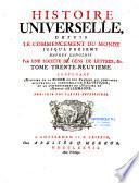 Histoire universelle  depuis le commencement du monde  jusqu    present
