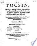 Le Tocsin  Au Roy     la Reyne Regente       Contre le Livre de la Puissance Temporelle du Pape  mis n aguerres en lumiere par le Card  Bellarmin Jesuite  Par le Statue de Memnon