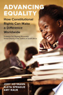 Advancing equality : how constitutional rights can make a difference worldwide document cover