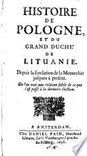 Histoire de Pologne et du Grand-Duche de Lituanie