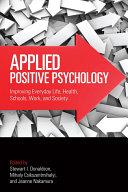 download ebook applied positive psychology pdf epub