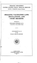 Smallpox Vaccination Laws  Regulations  and Court Decisions