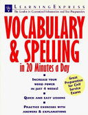 Vocabulary   Spelling in 20 Minutes a Day