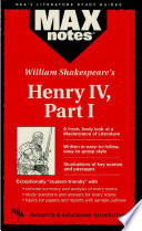 Henry IV  Part I  MAXNotes Literature Guides
