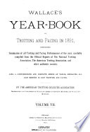 Wallace S Year Book Of Trotting And Pacing In  book