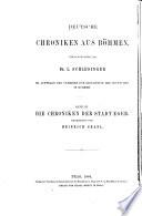 Die Chroniken der Stadt Eger