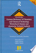 Langenscheidt Routledge German Dictionary of Chemistry and Chemical Technology  English German  Englisch Deutsch