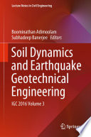 Soil Dynamics And Earthquake Geotechnical Engineering