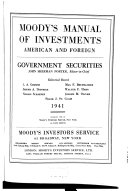 Mergent Moody s Municipal   Government Manual