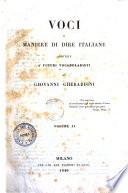 Voci e maniere di dire italiane additate a  futuri vocabolaristi
