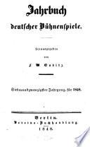 Jahrbuch deutscher B  hnenspiele