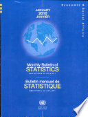Monthly Bulletin of Statistics  January 2010