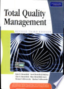 Total Quality Management   Revised Edition