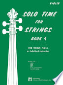Solo Time for Strings  Violin  Book 4