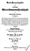 Real-encyclopädie der classischen alterthumswissenschaft...