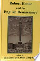 Robert Hooke and the English Renaissance