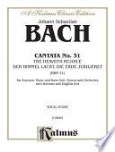 Cantata No 31 Der Himmel Lacht Die Erde Jubiliert