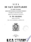 Vita di San Leonardo da Porto Maurizio