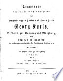 Trauerrede auf Georg Carl, Bischof zu Bamberg und Würzburg