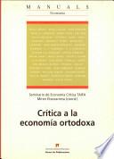 Crítica a la economía ortodoxa