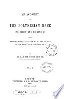 An Account Of The Polynesian Race