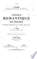 L   cole romantique en France