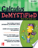 Calculus DeMYSTiFieD  Second Edition