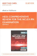 Hesi Comprehensive Review for the NCLEX RN Examination EBook on VitalSource Access Code   Hesi Comprehensive Review for the NCLEX RN Examination Evolve Resources Access Code