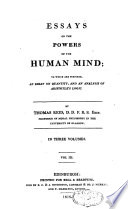 Essays On The Powers Of The Human Mind