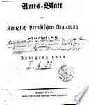 Amtsblatt der Regierung zu Frankfurt a.d. Oder