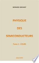 illustration Physique des Semiconducteurs - Tome 1 : Cours