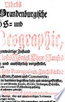 Preußische und Brandenburgische Reichs- und Staats-Geographie